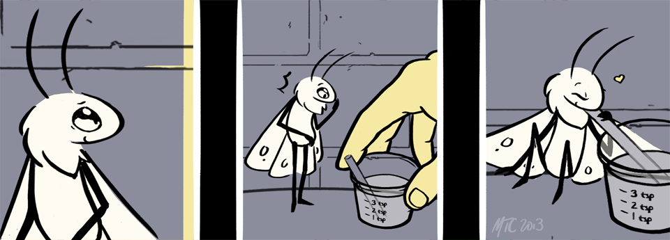 Check out Be Kind to Moth, a short work that went viral on Tumblr, in the new Comics tab!