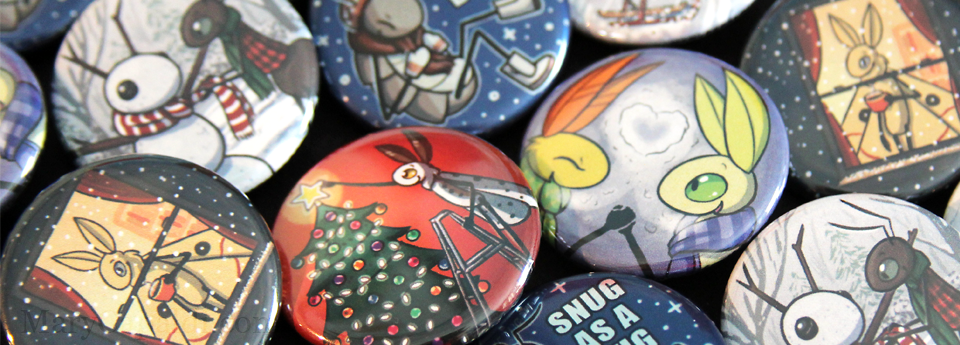 Winter button sets now in the shop!