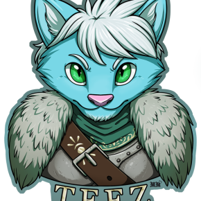 Teez Bust Badge