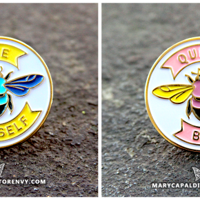 Bee Yourself & Queen Bee Enamel Pins