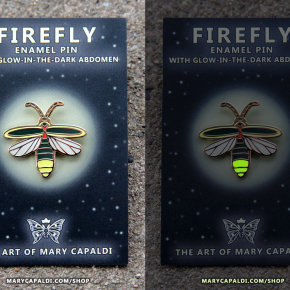 Firefly Glow in the Dark Enamel Pin