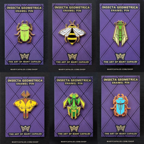 Insecta Geometrica Enamel Pin Set