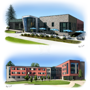 PSU Brandywine Campus Illustrations