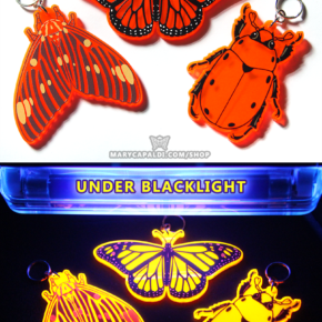 Florescent UV Insect Charms