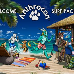 Surf Pacific Anthrocon 2019 Banner Art